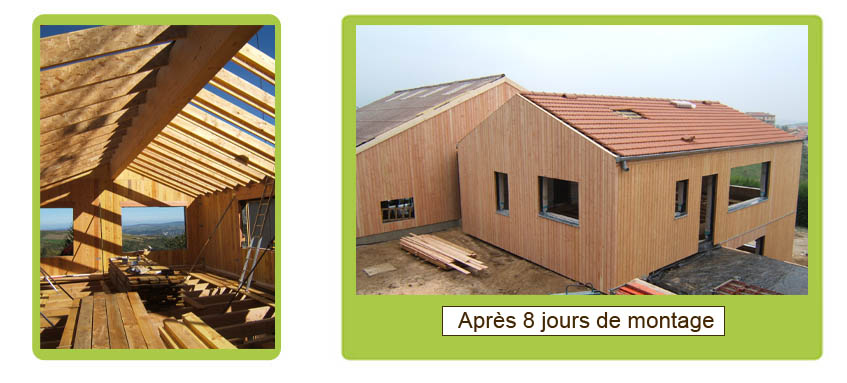 Photo 2 maison bois bbc à cellieu entre saint etienne et lyon